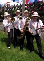 The MG Jazz Band in England