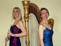The AP Flute and Harp duo in Shropshire
